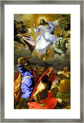 The Transfiguration Of Our Lord Framed Print by Lodovico Carracci