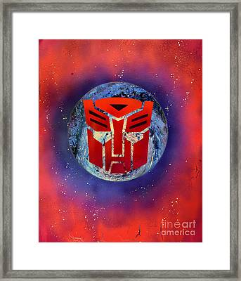 The Transformers Framed Print by Justin Moore