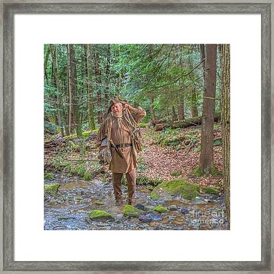 The Trapper Framed Print by Randy Steele