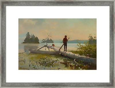 The Trapper Framed Print by Mountain Dreams