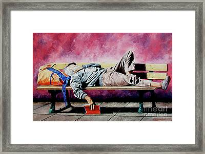 The Traveler 1 - El Viajero 1 Framed Print