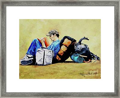 The Traveler 2 - El Viajero 2 Framed Print