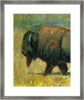 Framed Print featuring the painting The Traveler by Billie Colson
