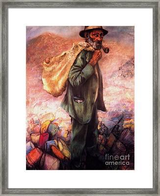 The Traveler Framed Print by Curtis James
