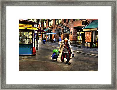 The Traveler Framed Print by Laurie Prentice