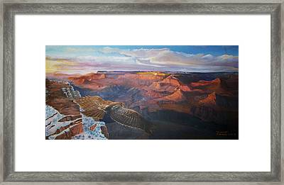 The Traveler Framed Print by Ron Bowles
