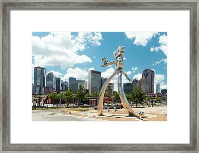 The Traveling Man Dallas 080618 Framed Print