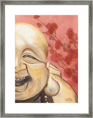 The Travelling Buddha Statue Framed Print