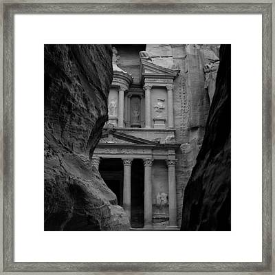 The Treasury - Petra Framed Print by Peter Dorrell