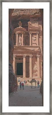 The Treasury Petra Framed Print by Richard Harpum