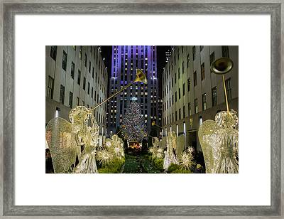 The Tree At Rockefeller Plaza Framed Print