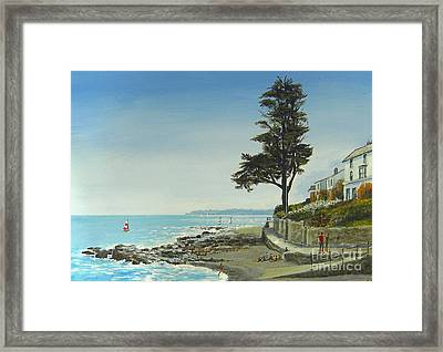 The Tree By The Sea Framed Print