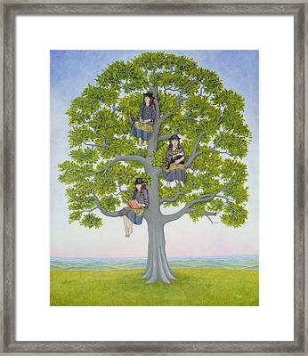 The Tree Framed Print by Ditz
