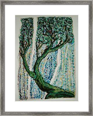 The Tree Energy Framed Print by Helene  Champaloux-Saraswati