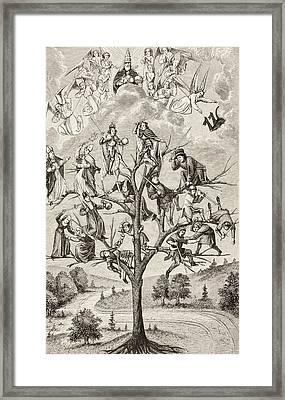 The Tree Of Battles. Allegorical Framed Print by Vintage Design Pics
