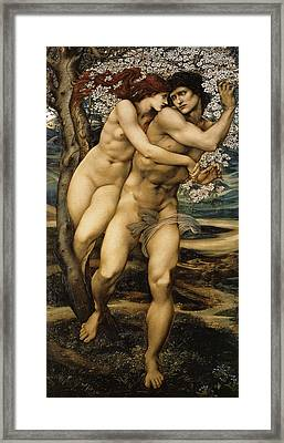 The Tree Of Forgiveness Framed Print by Edward Burne Jones