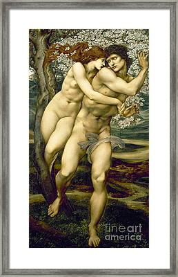 The Tree Of Forgiveness Framed Print by Sir Edward Burne-Jones
