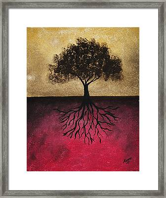 Framed Print featuring the painting The Tree Of Life by Edwin Alverio