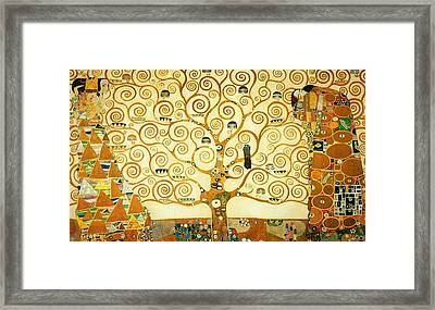 The Tree Of Life Framed Print by Gustav Klimt