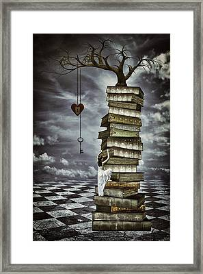 The Tree Of Love Framed Print by Mihaela Pater