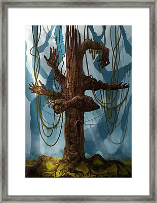 The Tree Of My Endless Selfish Requests 2 - By Diana Van Framed Print