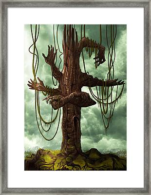 The Tree Of My Endless Selfish Requests - By Diana Van Framed Print