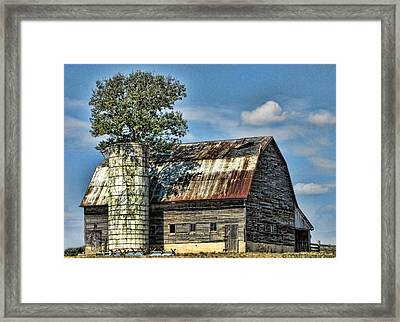 The Tree Silo Framed Print
