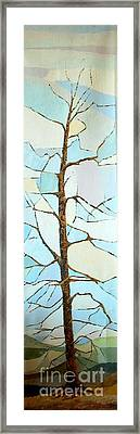 The Tree Sky Song Framed Print by Judith Espinoza