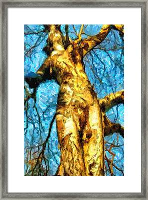 The Tree That Wanted To Be A Woman - Da Framed Print by Leonardo Digenio