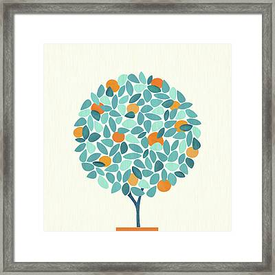 Framed Print featuring the painting The Tree With All The Gifts by Kristian Gallagher