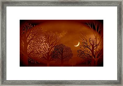 The Trees Cried Rosemary Framed Print by Darin Baker