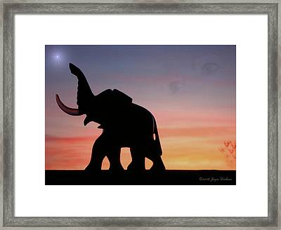 Framed Print featuring the photograph The Trek by Joyce Dickens