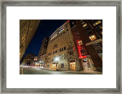 The Tremont Temple Baptist Church Tremont Street Boston Framed Print by Toby McGuire