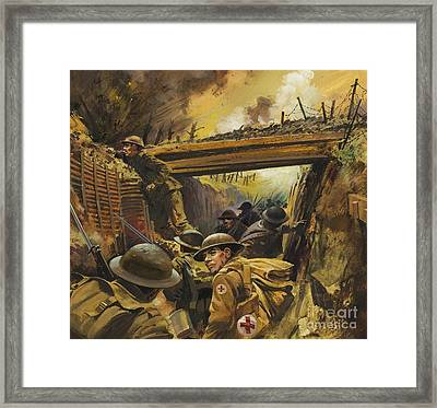 The Trenches Framed Print by Andrew Howat