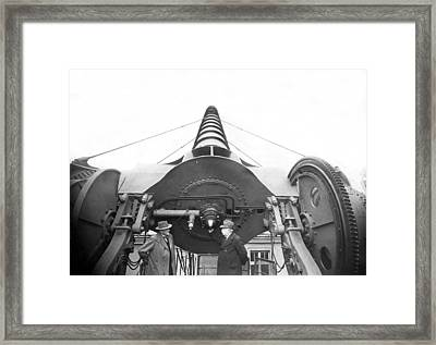 The Treptow Giant Telescope Framed Print by Underwood Archives
