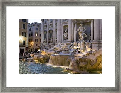 The Trevi Fountain At Dusk Framed Print by Scott S. Warren