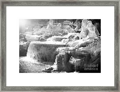 The Trevi Fountain Detail In Rome Framed Print by Stefano Senise