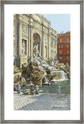 The Trevi Fountain In Rome Framed Print by Antonietta Brandeis