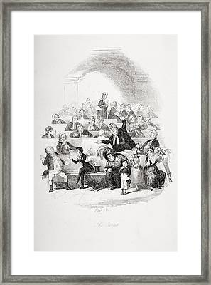 The Trial. Illustration From The Framed Print by Vintage Design Pics