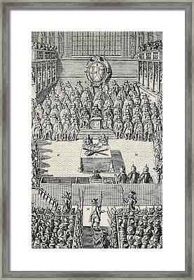 The Trial Of Charles I Framed Print