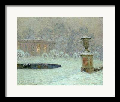The Trianon Under Snow Framed Prints