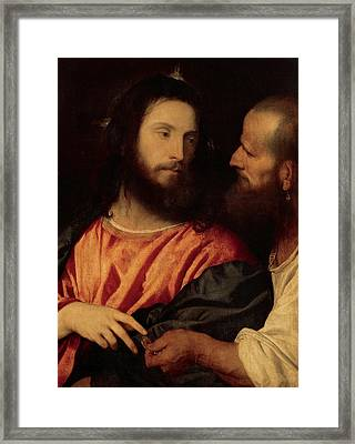 The Tribute Money Framed Print by Titian