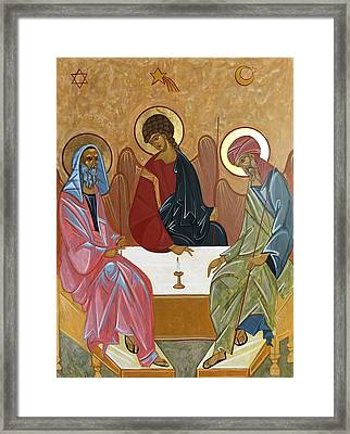 The Trinity Of Unity Framed Print by Joseph Malham