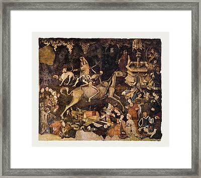 The Triumph Of Death, Medieval Fresco Framed Print by Mehau Kulyk