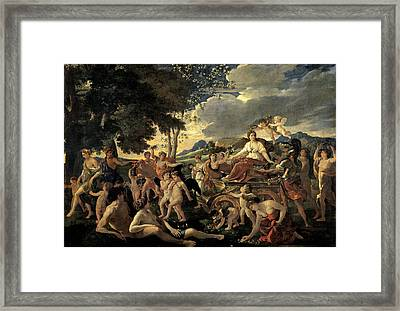 The Triumph Of Flora Framed Print by Nicolas Poussin