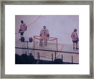 The Triumvirate - Bobby, Bernie, And Billy - Vintage Philadelphia Flyers Framed Print by Michael Mazaika