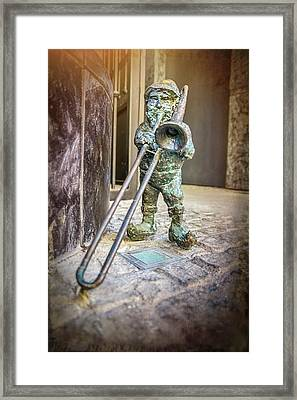 The Trombone Player Wroclaw Poland  Framed Print