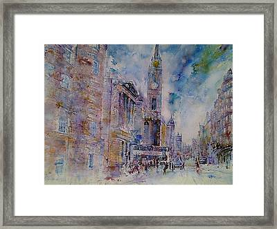 The Tron High Street  Edinburgh  Framed Print by Robert Hogg