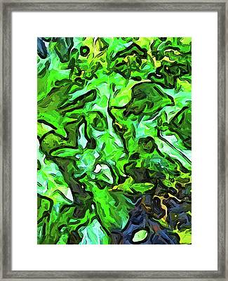 The Tropical Green Leaves With The Wings Framed Print