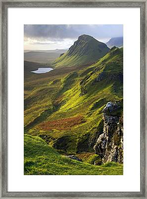 The Trotternish Hills From The Quiraing Isle Of Skye Framed Print by John McKinlay